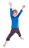 poserar rolig framställning för pojke litet Arkivbild