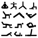 poserar yoga Arkivfoton