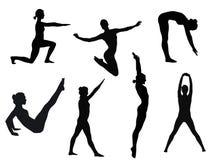 poserar yoga Arkivfoto
