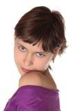 Poses bonitos da menina Imagem de Stock Royalty Free