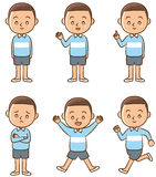 Poses of boy Stock Image