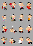 Poses a cartoon man Royalty Free Stock Images