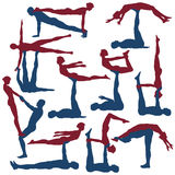 Poses d'Acroyoga Photographie stock