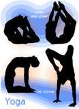 Poses d'Asana de yoga Photos stock