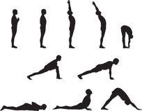 Poses da ioga Ilustração Royalty Free