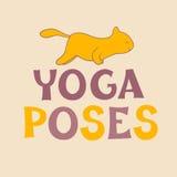 'Poses da ioga Foto de Stock