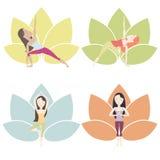 Poses da ioga ajustadas Ilustração Stock