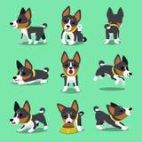 Poses de chien de basenji de personnage de dessin animé réglées Illustration Libre de Droits