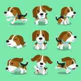 Poses de chien de briquet de personnage de dessin animé Images stock
