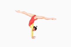 Poses de gymnastique Images libres de droits