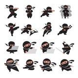 Poses de Ninja Imagem de Stock Royalty Free