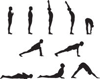 Poses de yoga Images libres de droits