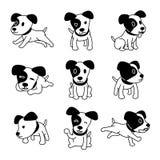 Poses do cão do terrier de russell do jaque do personagem de banda desenhada do vetor ajustadas ilustração royalty free