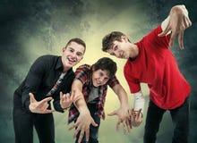 poses do hip-hop do divertimento Foto de Stock Royalty Free