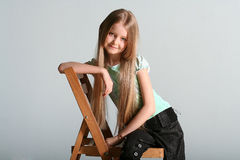 Poses do modelo da menina Foto de Stock