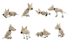 Poses of dogs. Different poses of dogs. 3d model. isolated Stock Images