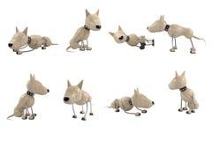 Poses dos cães Imagens de Stock