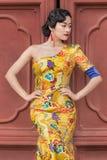Poses modelo na forma clássica, Pequim, China Foto de Stock