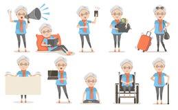 Poses pluses âgé illustration stock