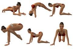 Poses 'sexy' de Joga Fotografia de Stock Royalty Free