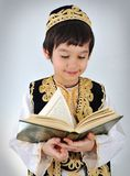 Posetive kid muslim Royalty Free Stock Images