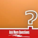Posez plus de questions Image stock