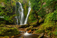 Posforth Gill waterfall. In the Valley of Desolation, North Yorkshire Royalty Free Stock Photo
