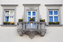 Posh art balcony Stock Image