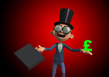 Posh Businessman. A very posh Businessman who is very rich Stock Images