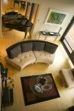 Posh Home Interior Decor Furniture Grand Piano Wood Floor Art Royalty Free Stock Photos