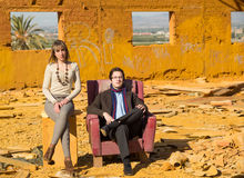 Posh people in crisis Stock Photography