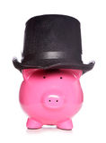 Posh piggy bank Stock Photo