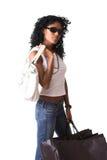 Posh shopping girl royalty free stock photo