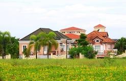 Posh village in suburban Manila royalty free stock image