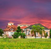 Posh village in suburban Manila. Italian modern house design Stock Photography
