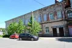POSHEKHONJE, RUSLAND Recreatiecentrum die vroeger voordelig huis van de tweede helft van de 19de eeuw bouwen Russische tex stock afbeeldingen