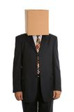 Posição anónima do homem da caixa Fotos de Stock