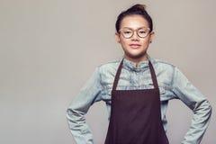 Posição asiática da mulher Fotografia de Stock Royalty Free