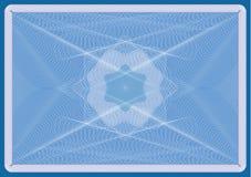 Posição azul do diploma ou da paisagem do certificado Fotografia de Stock Royalty Free