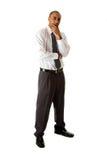 Posição considerável do homem de negócio Fotos de Stock Royalty Free