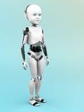 Posição da criança do robô Fotos de Stock Royalty Free