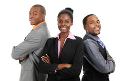 Posição da equipe do negócio do americano africano foto de stock royalty free