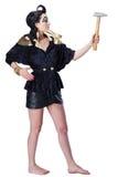 Posição da jovem mulher como o egípcio Fotografia de Stock Royalty Free