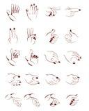 Posição da mão Imagem de Stock