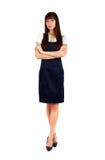Posição da mulher de negócios fotografia de stock royalty free