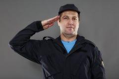Posição de ataque do agente de segurança mim Foto de Stock