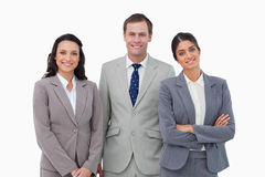 Posição de sorriso do businessteam Foto de Stock Royalty Free