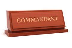 Posição do comandante ilustração stock