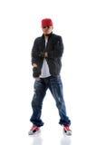 Posição do dançarino de Hip Hop Imagem de Stock Royalty Free