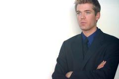 Posição do homem de negócio Foto de Stock